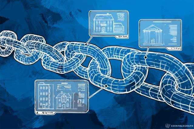 Блокчейн в виде цепи и недвижимость