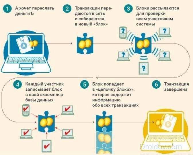 Принцип работы криптовалюты на технологии блокчейн