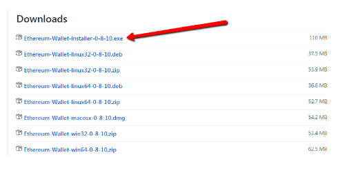 Downloads list