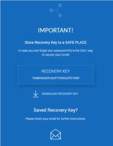 Сохраните ключ