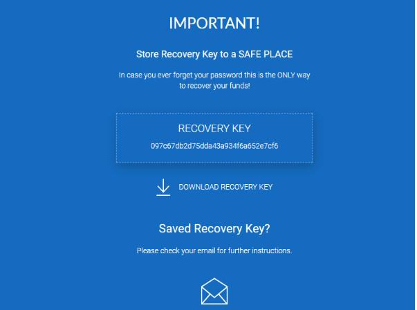 Сохраняем резервный ключ