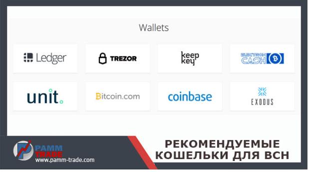 Ledger, Trezor, keepkey, electron cash, exodus, coinbase, bitcoin.com, unit