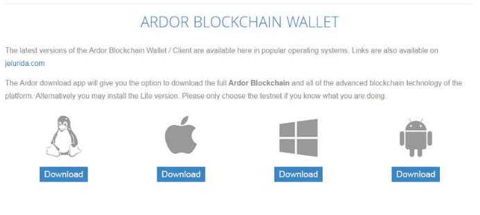 Ardor Blockchain Wallet